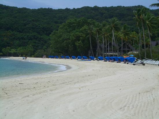 Palau Pacific Resort: Private beach in front of hotel