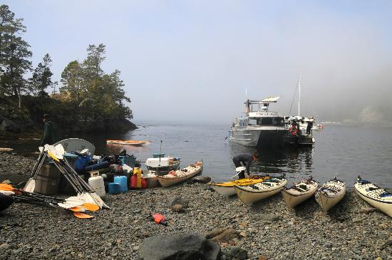 Spirit of the West Adventures: Kayaks and Water Taxi at Base Camp