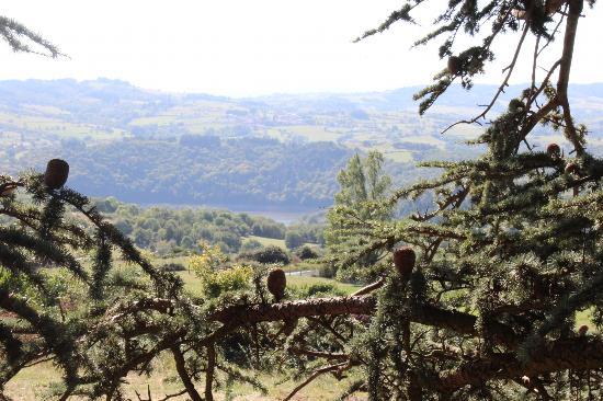 Panorama cabane l'Aventure Domaine des grands Cèdres