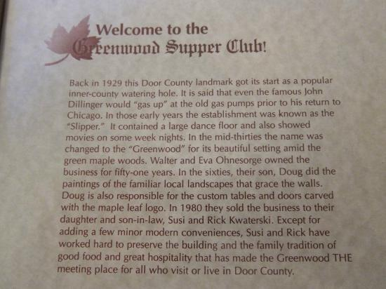 Greenwood Supper Club: Local Lore