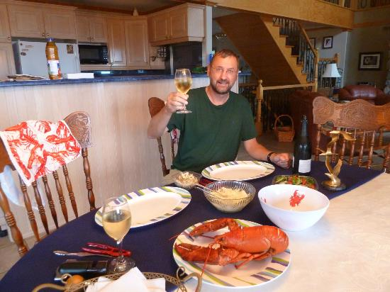 "Gite Toutes Saisons Bed & Breakfast : Enjoying our meal ""at home"""