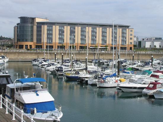 Looking across the Elizabeth Marina towards the Radission Blu - Picture of Radisson Blu ...