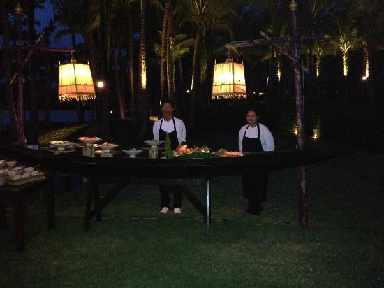 Phulay Bay, A Ritz-Carlton Reserve: Special Traditional Long Boat Seafood BBQ by the sea dinner for 2