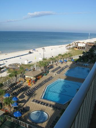 The Summit Condominiums: The pool area with tiki bar