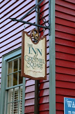 Inn at Gristmill Square: The sign outside.