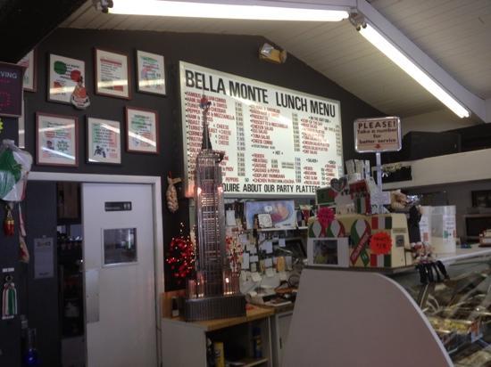 Bella Monte Italian Deli: front counter