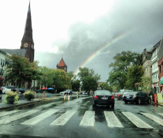 Northampton, MA: Rainbow over downtoen