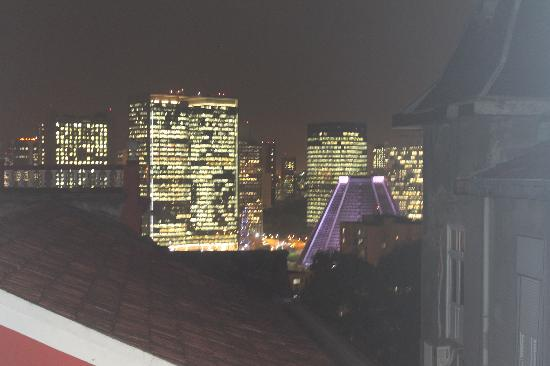 Bossa in Rio Hostel: night view from my dorm window
