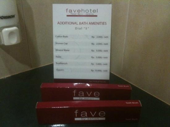 favehotel Pasar Baru: Amenities for sell