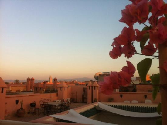 Riad de Vinci: Vue terrasse
