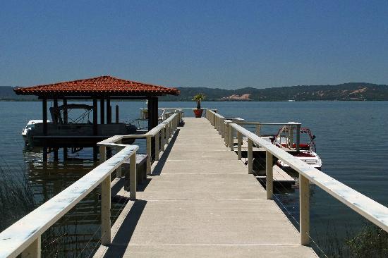 Ceago Estate Wines: view of dock