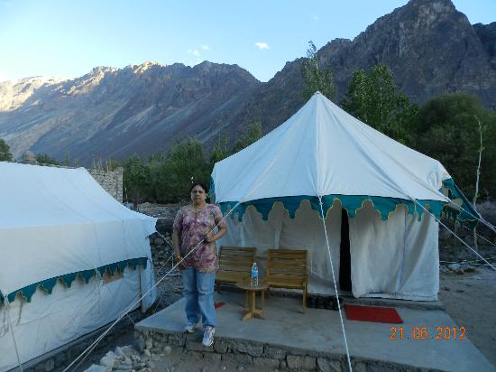 Nubra Ethnic C& Outside our tent & Outside our tent - Picture of Nubra Ethnic Camp Nubra Valley ...