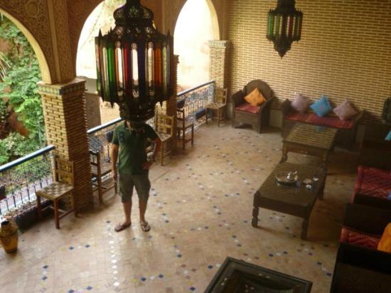 Riad Meknes: salle de thé
