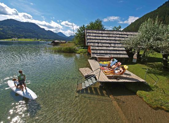 Ferienhof Obergasser & Pension Bergblick: Privatstrand