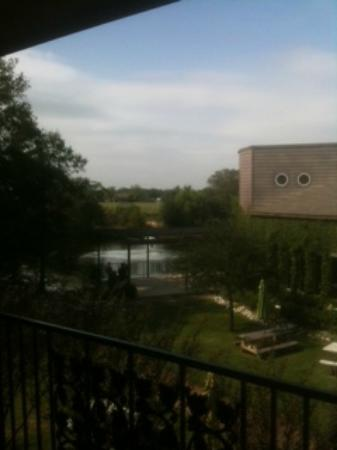 The Villa Bed and Breakfast at Messina Hof: View from Thomas Jefferson Room