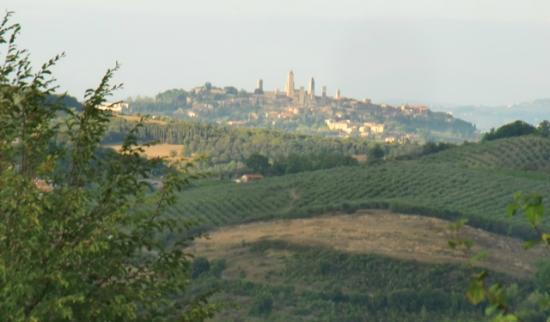 Antico Borgo il Cardino: Vista desde la piscina (con zoom)