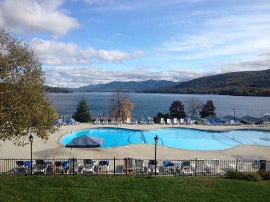Fort William Henry Hotel and Conference Center: morning view from the Lakeview motel, 8 Oct 12