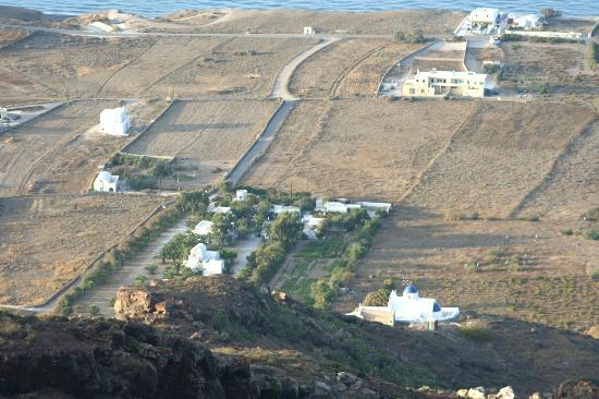 Pelagos Hotel-Oia: Die grüne Oase von oben