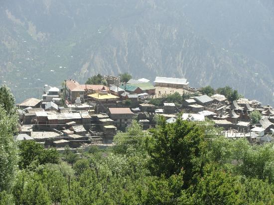 Rakpa Regency: View of Kalpa town from the room balcony