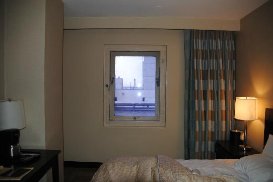 Miami International Airport Hotel: Window from the room which views a roof