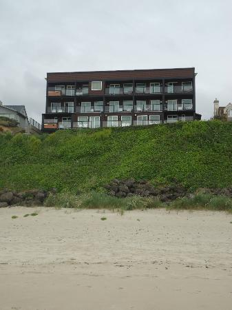 Starfish Manor Oceanfront Hotel: View of the hotel from the beach