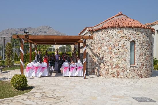 Holiday Village Rhodes: Chapel were the wedding took place