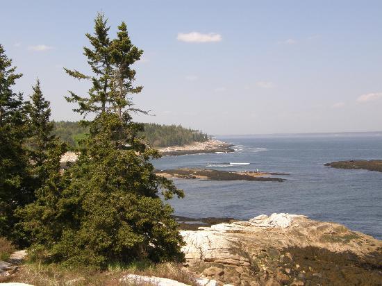 Reid State Park : Rocky coast area