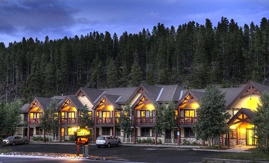 The Breck Inn at dusk