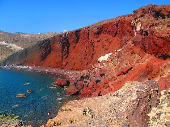 Akrotiri , Yunani: Red Beach
