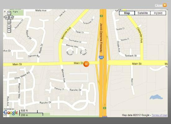 BEST WESTERN Plus Otay Valley Hotel: Map