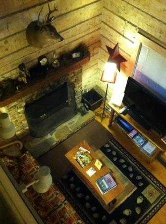 Uncle Bud's Log Cabins: View from bedroom loft