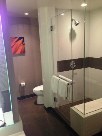 Vdara Hotel & Spa: Shower in City Corner Suite