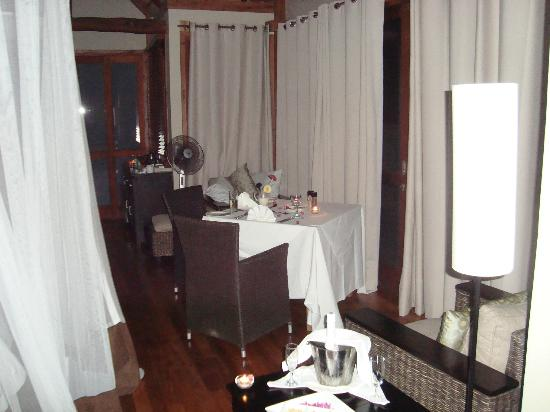 Massinga Beach Lodge: In room dining