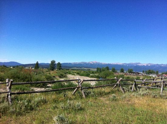 Parade Rest Ranch: I took a jog up the hill past the horses and snapped this gorgeous view.
