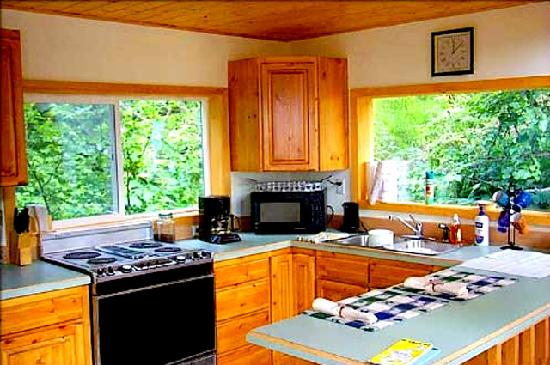 Alaska Adventure Cabins: Canyon Creek Kitchen