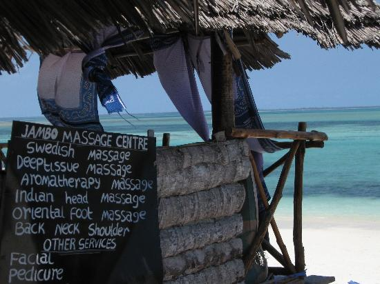 Malaika Bungalows : Beauty / massage parlour run by the lovely Delilah (attached to Maliaka)