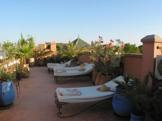 Riad Adika: une partie de la terrasse