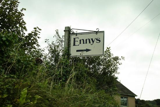 The road sign to Ennys