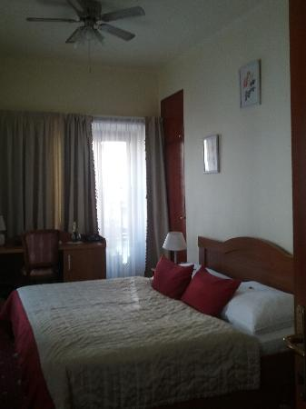 Hotel U Tri Pstrosu (At the Three Ostriches): Our double bed