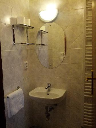 Hotel U Tri Pstrosu (At the Three Ostriches): Clean modern bathroom