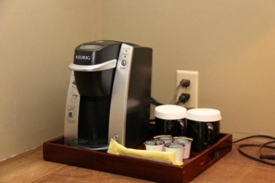Castle Hill Resort And Spa: K cup Coffee Machine