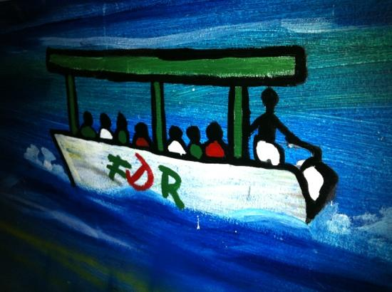 Franklyn D Resort & Spa: part of the wall paintings in the game room / teen center