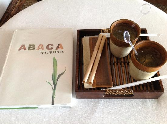 Abaca Boutique Resort: Welcome drinks