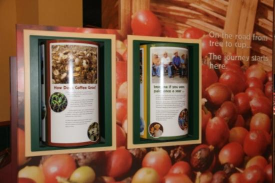 Green Mountain Coffee Cafe & Visitor Center: Visitor Center Information Display
