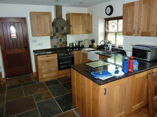 The Old Vicarage Country House Bed & Breakfast: Kitchen with ceramic hob, electric fan oven, dishwasher, microwave, washer dryer & fridge freeze