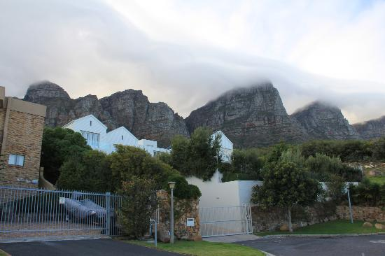 Fullham Lodge: the quiet residential street and 12 apostles in the background
