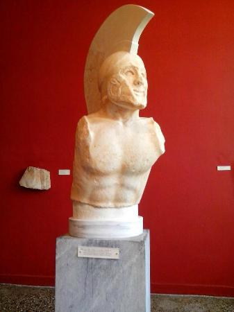 Archaeological Museum of Sparta : King Leonidas bust