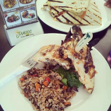 Jamroc Jamaican Jerk Chicken: Jerk Chicken and Rice n Peas