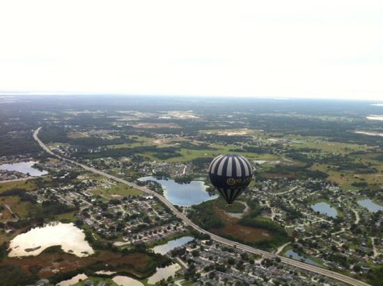 Orlando Balloon Rides: 1,500 ft over rural west Orlando