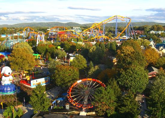 Allentown, Pensilvania: from high above in the fall
